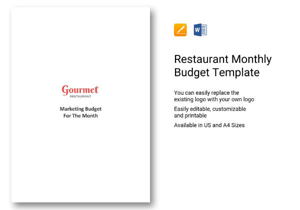 420 completed restaurant monthly budget template 01