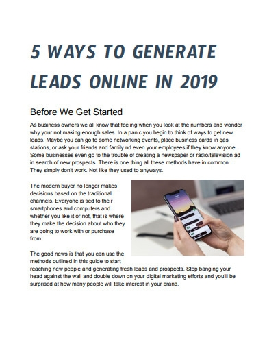 5 ways to generation online leads