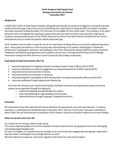 acadamy pupil equity fund strategy example