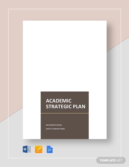 academic strategic plan template