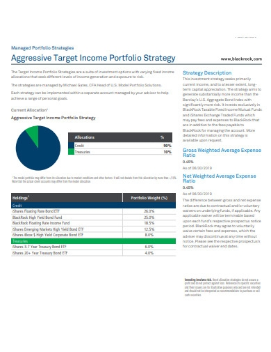 aggressive target income portfolio strategy