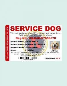 animal registration id card