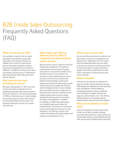 b2b inside sales outsourcing