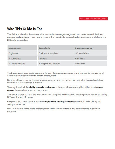 b2b lead generation strategies guide