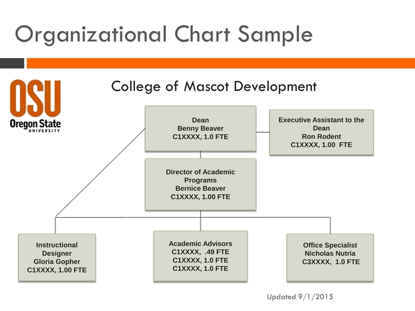 basic college organizational chart sample