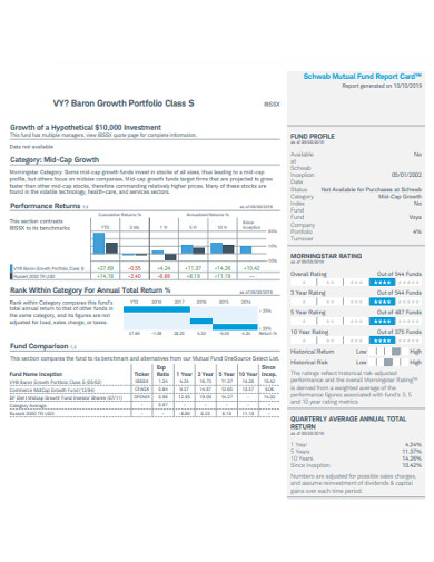 basic growth portfolio example