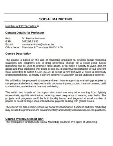 basic social marketing example