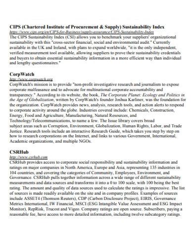 basic supply market analysis examples