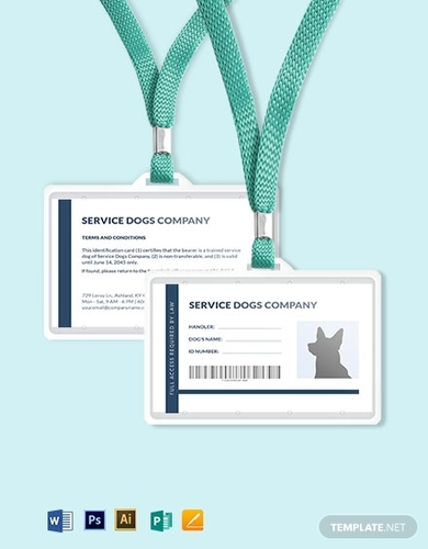 10 Animal Id Card Examples Illustrator Ms Word Pages