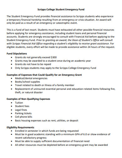 college student emergency fund