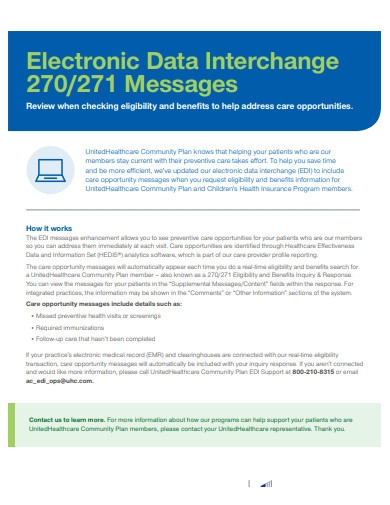 electronic data interchange messagess