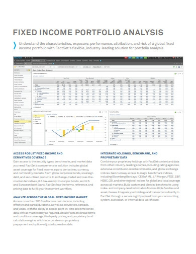 fixed income portfolio analysis example