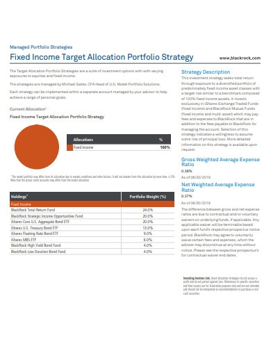 fixed income target allocation portfolio strategy