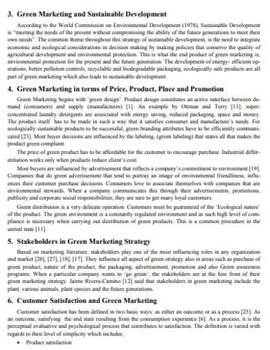 formal green marketing example
