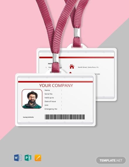 free blank id card template