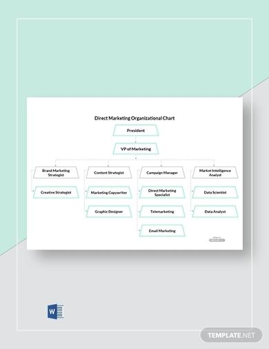 free direct marketing organizational chart template