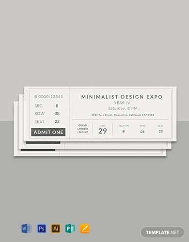 free minimalist ticket template