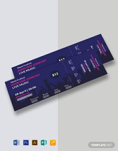 free music concert ticket template