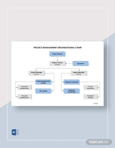 free project management organizational chart template
