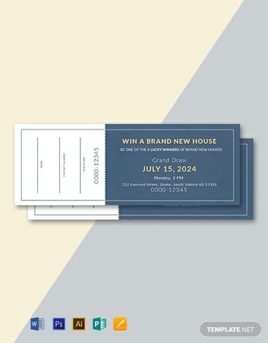 free sample raffle ticket template
