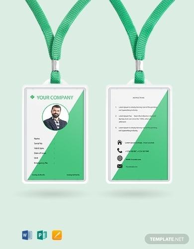 free staff blank id card template