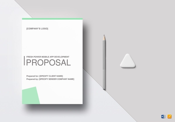 freshpower mobile app proposal template