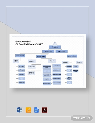 government organizational chart template