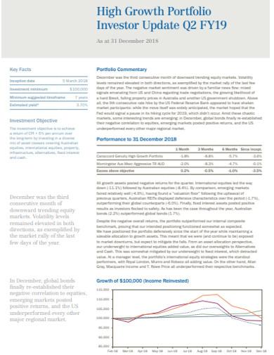 high growth investor portfolio example