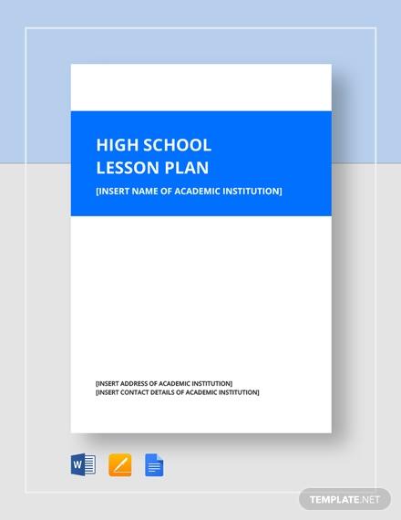 high school lesson plan