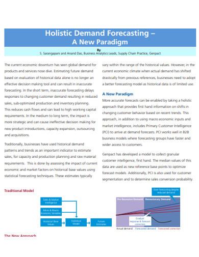 holistic demand forecasting example