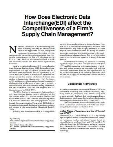 how does electronic data interchange effects the supply management