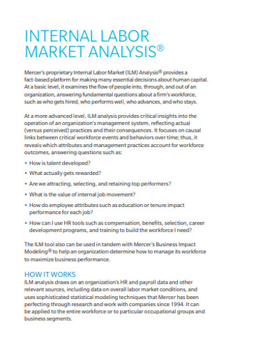internal labor market analysis example