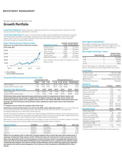 investment growth portfolio example