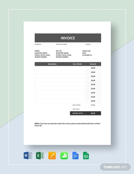 invoice example template