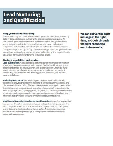 lead nurturing and qualification example