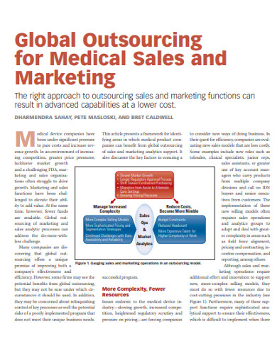 marketing sales outsourcing example
