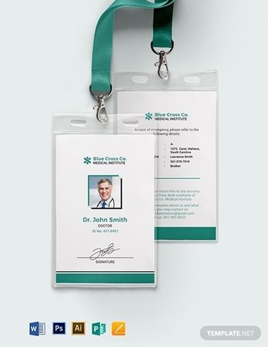 medical staff id card template
