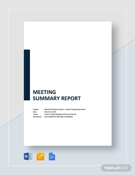 meeting summary report template1