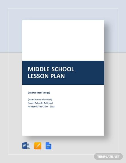 middle school lesson plan