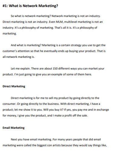network email marketing