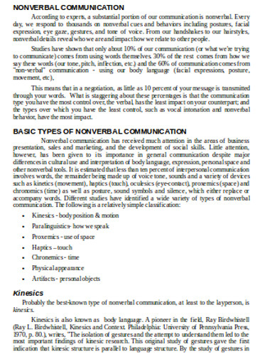 nonverbal communication in doc
