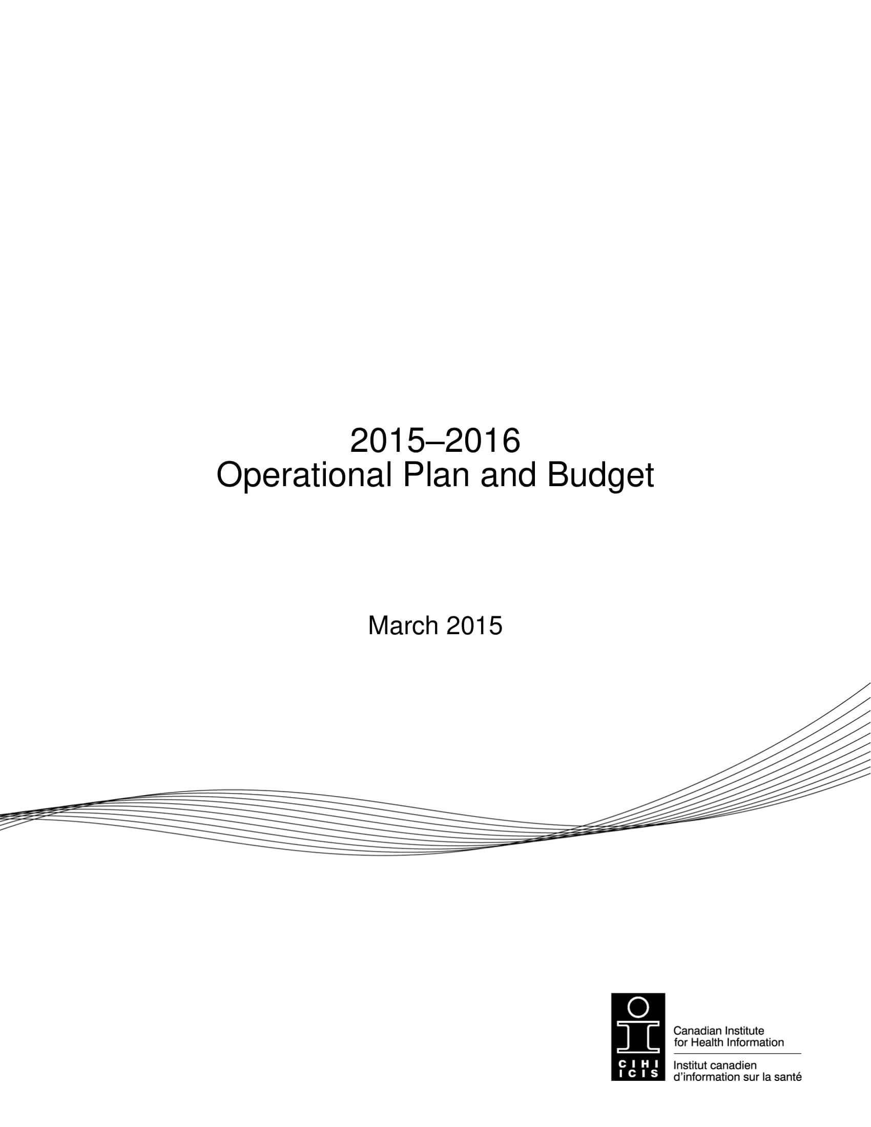 operational plan and budget for business plan examples
