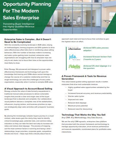 opportunity planning for sales enterprise