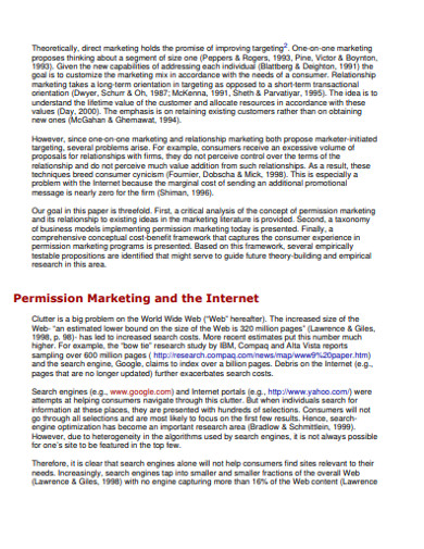 permission internet marketing example