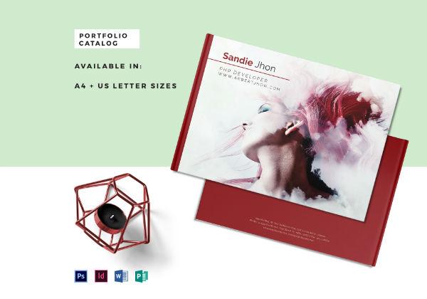 portfolio catalog mockup