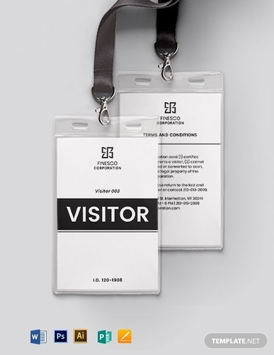 printable visitor guest id card template