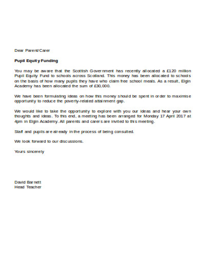 pupil equity funding letter