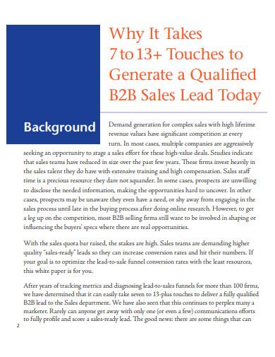 qualified b2b sales leads