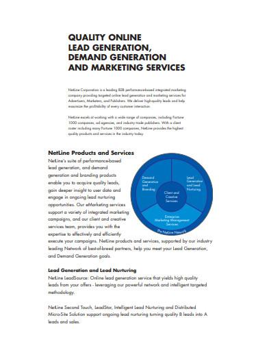quality online lead generation