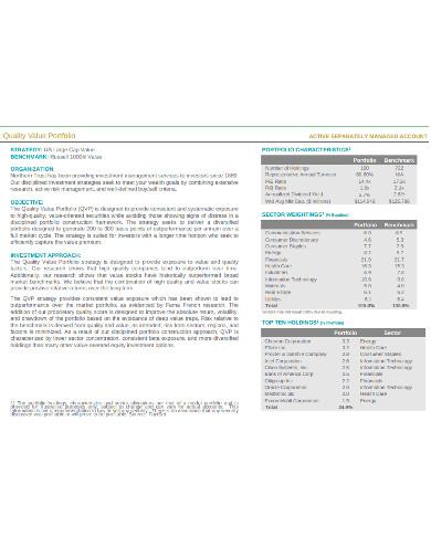 quality value portfolio example
